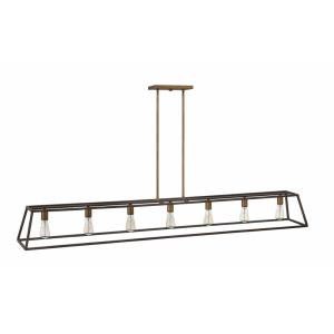Fulton - Seven Light Stem Hung Linear Chandelier