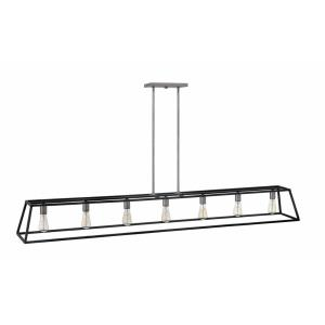 Fulton - 7 Light Open Frame Linear Chandelier