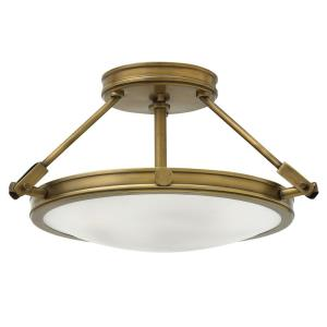 Collier - 3 Light Small Semi-Flush Mount