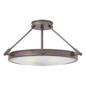 Collier - 4 Light Medium Semi-Flush Mount in Traditional, Mid-Century Modern Style - 22 Inches Wide by 11.5 Inches High