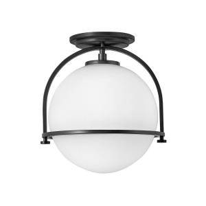 Somerset - 1 Light Small Semi-Flush Mount in Transitional Style - 11.5 Inches Wide by 12.5 Inches High