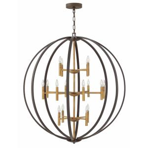 Euclid - 16 Light Extra Large 3-Tier Orb Chandelier in Transitional, Modern Style - 44 Inches Wide by 49 Inches High