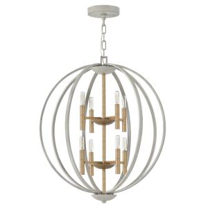 Euclid - 8 Light Large 2-Tier Orb Foyer in Transitional, Modern Style - 28.25 Inches Wide by 33 Inches High