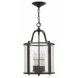 Gentry - 4 Light Medium Foyer in Traditional Style - 12 Inches Wide by 19.75 Inches High