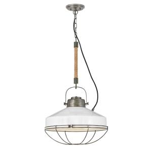 Brooklyn - 1 Light Large Pendant in Rustic, Industrial Style - 18 Inches Wide by 96.13 Inches High