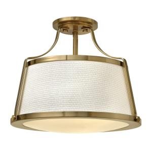 Charlotte - 16 Inch 3 Light Small Semi-Flush Mount