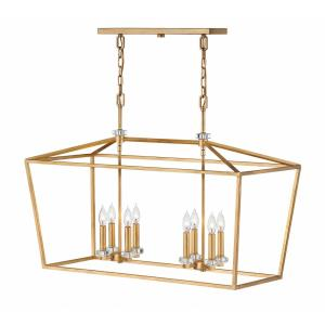 Stinson - 8 Light Linear Chandelier in Transitional Style - 34 Inches Wide by 24 Inches High