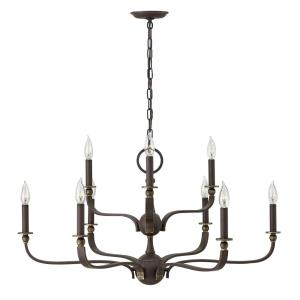 Rutherford - Nine Light 2-Tier Chandelier