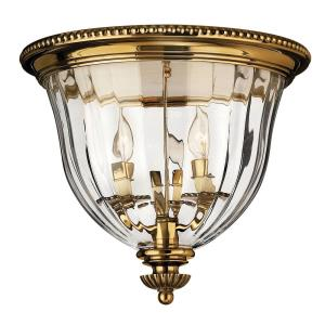 Cambridge - Three Light Small Flush Mount in Traditional Style - 14.5 Inches Wide by 13 Inches High