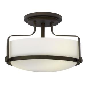 Harper - 3 Light Medium Semi-Flush Mount in Transitional Style - 14.5 Inches Wide by 10 Inches High