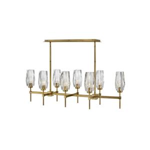 Ana - 8 Light Linear Chandelier in Modern, Glam Style - 46 Inches Wide by 14 Inches High