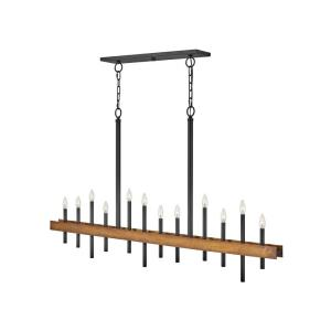 Wells - Twelve Light Linear Chandelier in Transitional, Industrial Style - 60.25 Inches Wide by 35.75 Inches High