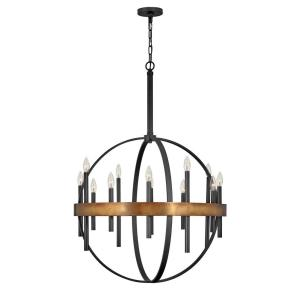 Wells - Twelve Light Large Orb Chandelier