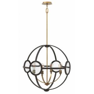 Fulham - 4 Light Medium Orb Chandelier in Mid-Century Modern Style - 26 Inches Wide by 26.5 Inches High