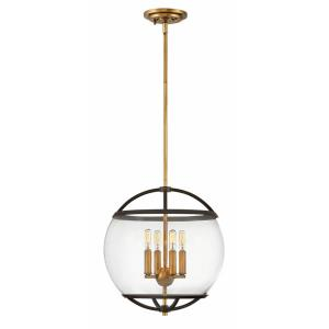 Calvin - 4 Light Medium Orb Pendant in Mid-Century Modern Style - 15 Inches Wide by 16.25 Inches High