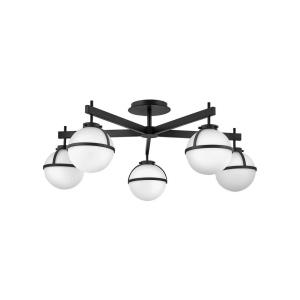 Hollis - 22.5W 5 LED Extra Large Semi-Flush Mount - Transitional, Mid-Century Modern, Scandinavian Style - 32 Inch Wide by 12 Inch High