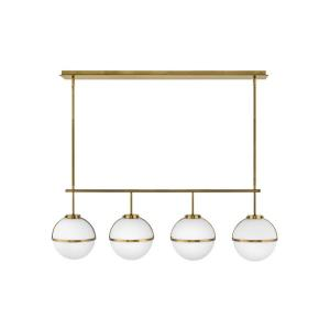 Hollis - 18W 4 LED Linear Chandelier - Transitional, Mid-Century Modern, Scandinavian Style - 42.25 Inch Wide by 13.75 Inch High