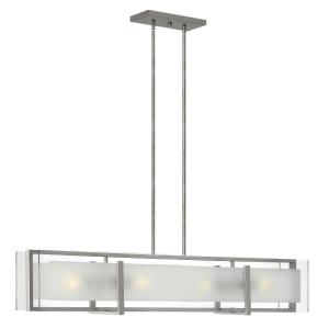 Latitude - Four Light Stem Hung Linear Chandelier