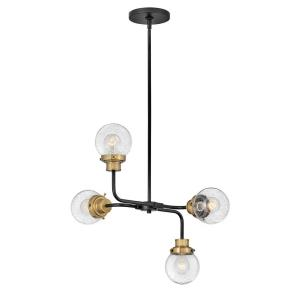 Poppy - Four Light Small Chandelier in Traditional, Mid-Century Modern Style - 22 Inches Wide by 21 Inches High