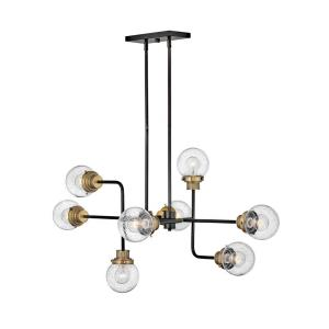 Poppy - Eight Light Linear Chandelier in Traditional, Mid-Century Modern Style - 45 Inches Wide by 22.25 Inches High