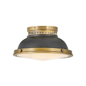 Emery - 2 Light Medium Flush Mount in Coastal, Industrial Style - 12.75 Inches Wide by 6.75 Inches High