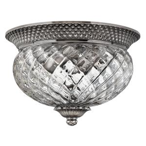 Plantation - 2 Light Small Flush Mount in Traditional, Glam Style - 12 Inches Wide by 8 Inches High