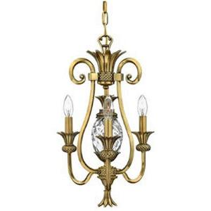 Plantation - Three Light Mini-Chandelier