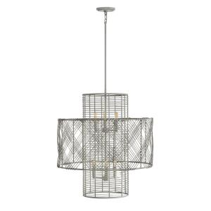 Nikko - 6 Light Medium Multi-Tier Chandelier in Transitional, Coastal Style - 26 Inches Wide by 27.75 Inches High