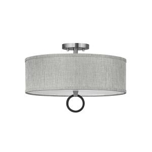 Link - 51W 3 LED Medium Semi-Flush Mount in Traditional Style - 18 Inches Wide by 11.5 Inches High