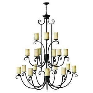 Casa - Eighteen Light Chandelier in Rustic Style - 56 Inches Wide by 68 Inches High
