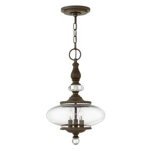 Wexley - Three Light Chandelier in Traditional Style - 12 Inches Wide by 19.5 Inches High