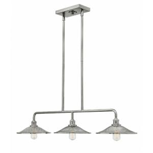 Rigby - 3 Light Linear Chandelier in Industrial Style - 40 Inches Wide by 7 Inches High