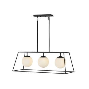 Jonas - Three Light Linear Oval Open Frame Pendant