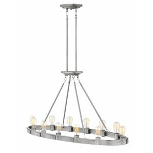 Everett - 12 Light Linear Chandelier in Transitional, Rustic, Industrial Style - 48.25 Inches Wide by 24.5 Inches High