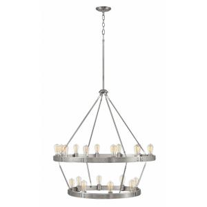 Everett - Twenty Light Large 2-Tier Chandelier