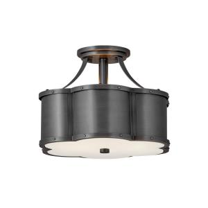 Chance - Two Light Small Semi-Flush Mount