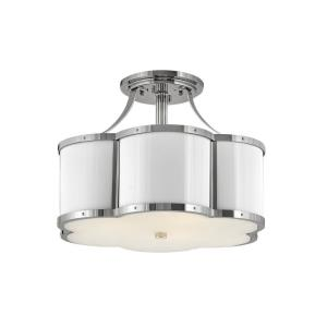 Chance - 3 Light Medium Semi-Flush Mount in Traditional Style - 18 Inches Wide by 13 Inches High