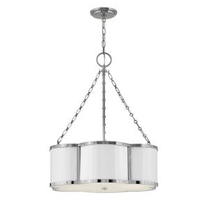 Chance - 3 Light Medium Drum Chandelier in Traditional Style - 22 Inches Wide by 26.5 Inches High
