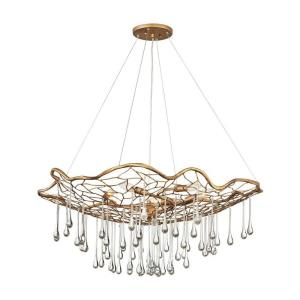 Laguna - Six Light Large Chandelier in Modern, Bohemian Style - 36 Inches Wide by 14.5 Inches High