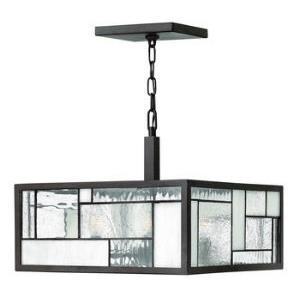 Mondrian - Four Light Chandelier in Craftsman Style - 16 Inches Wide by 13.25 Inches High