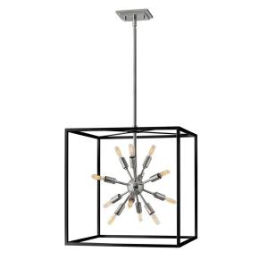 Aros - 12 Light Medium Open Frame Chandelier in Transitional, Modern, Mid-Century Modern Style - 20 Inches Wide by 21 Inches High