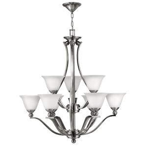 Bolla - 9 Light Large 2-Tier Chandelier in Transitional Style - 35.25 Inches Wide by 37.5 Inches High