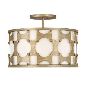 Carter - Three Light Medium Semi-Flush Mount