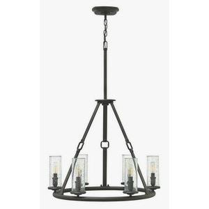 Dakota - Six Light Chandelier in Rustic Style - 26.5 Inches Wide by 36.5 Inches High