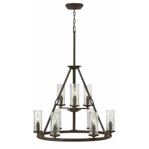 Dakota - Nine Light Chandelier in Rustic Style - 29 Inches Wide by 37 Inches High