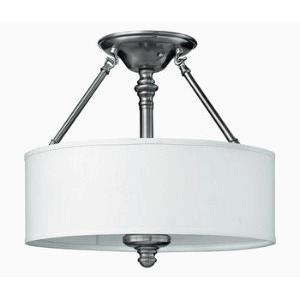 Sussex - 15 Inch Three Light Ceiling Fixture
