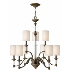 Sussex - 9 Light Large 2-Tier Chandelier in Traditional Style - 32 Inches Wide by 34.5 Inches High