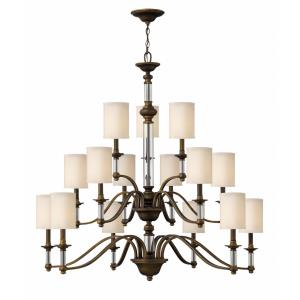 Sussex - 15 Light Extra Large 3-Tier Chandelier in Traditional Style - 47 Inches Wide by 44.25 Inches High