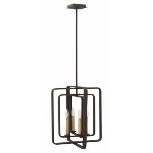 Quentin - 4 Light Medium Open Frame Chandelier in Mid-Century Modern, Industrial Style - 17 Inches Wide by 19.75 Inches High