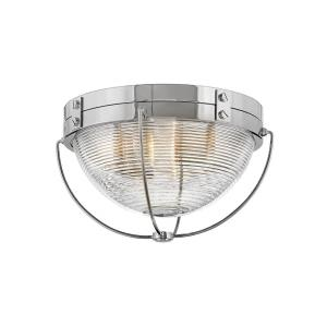 Crew - 2 Light Medium Flush Mount in Coastal, Industrial Style - 16 Inches Wide by 9.5 Inches High